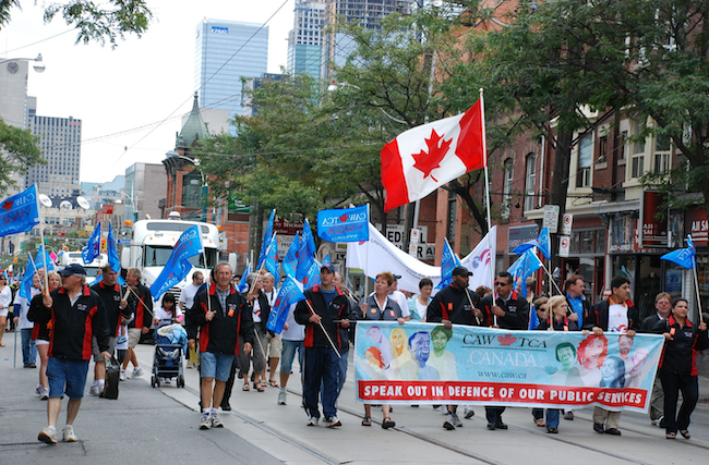 Labour Day parade in Toronto
